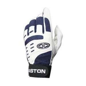 Easton Vent Air Batting Gloves   White/Navy