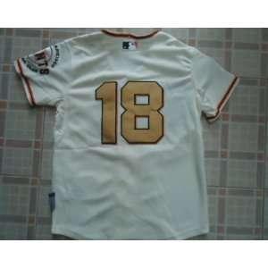 2012 San Francisco Giants #18 Matt Cain Cream Jersey