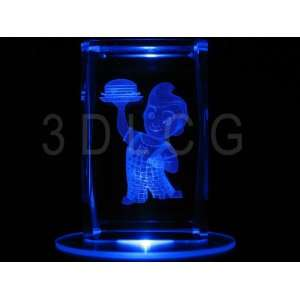 Bobs Big Boy 3D Laser Etched Crystal