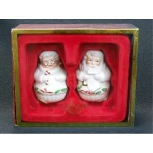 Lenox Holiday Mr & Mrs Claus Salt & Pepper Set Everything