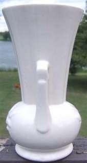 Vintage McCOY POTTERY ART DECO STYLE White VASE