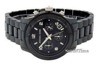 New Michael Kors Black Ceramic Chronograph Watch MK5162 691464300999