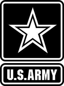 Big U.S. US Army Logo Wall Mural Vinyl Decal Sicker |