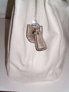 398 COACH SOHO Leather Large HOBO BAG PURSE 17092 White/Gold PERFECT