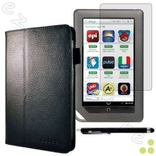 Genuine Leather Case Cover + 2x Screen Protectors + Stylus for Nook