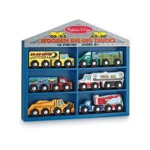 wooden big rigs trucks Toys & Games