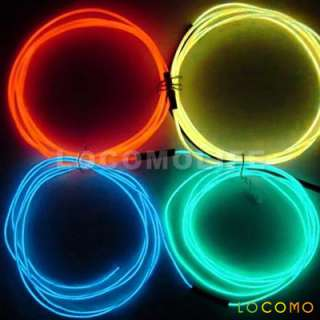 3m 12V Motor Car Wire EL Neon Light MUSIC SENSOR YELLOW