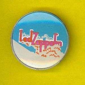 Led Zeppelin crystal top 1982 badge button pinback skyV