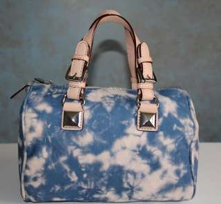 NWT MICHAEL KORS GRAYSON SMALL SATCHEL HANDBAG DENIM