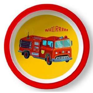 Fire Truck Plate Baby