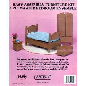 Easy Assembly Furniture Kit 4 Pc Master Bedroom Ensemble