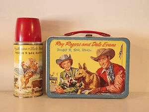Vintage 1957 ROY ROGERS & DALE EVANS DOUBLE R BAR RANCH Lunchbox