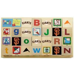 Francisco Giants Wooden Baseball Alphabet Blocks