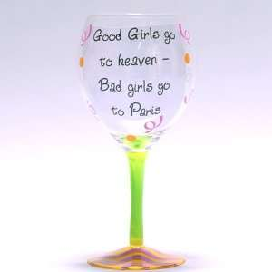 Good Girls Go to Heaven Wine Glass: Kitchen & Dining