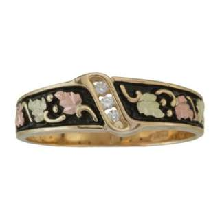 BLACK HILLS GOLD MENS DIAMOND WEDDING RING