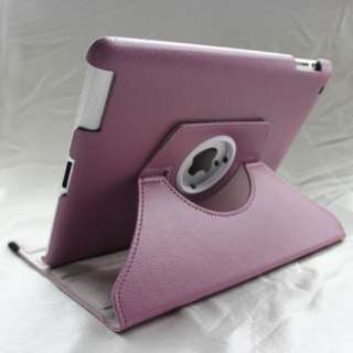 Multi Color iPad 2 360° Rotating Magnetic Smart PU Leather Cover Case