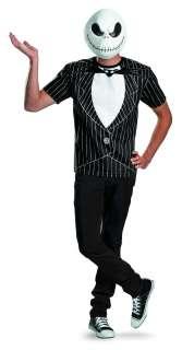 Before X Mas Jack Skellington Shirt & Mask Costume Adult Large/X Large