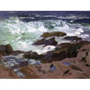 oil paintings   Edward Henry Potthast   24 x 18 inches   Wild Surf