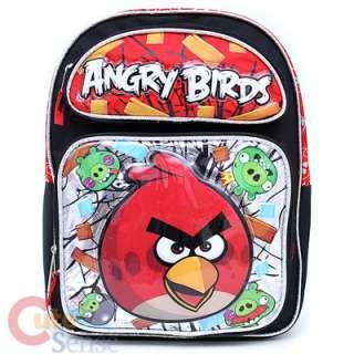 Angry Birds Medium School Backpack Lunch Bag Set  Red Bird