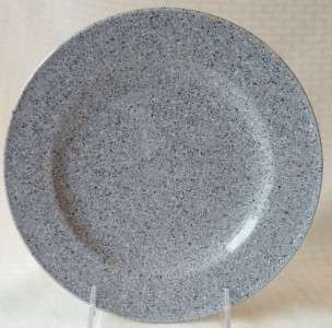 Mikasa Ultrastone Gray Salad PLATE Speckled #CU726 EUC