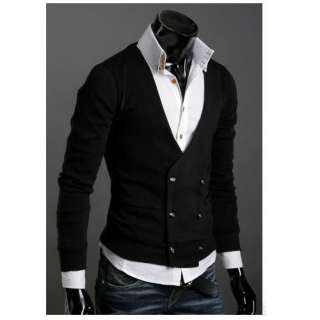 New Mens Casual Slim Fit Long Sleeve Sweaters Shirts 2 colors