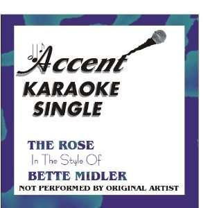 The Rose by Bette Midler Karaoke CD+G Single Accent Karaoke Music