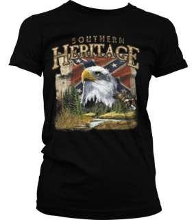 Southern Heritage Bald Eagle Confederate Flag Pride Rebel Girls