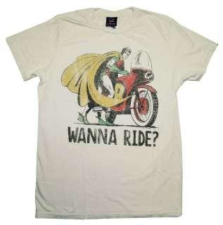 Batman And Robin DC Comics Wanna Ride Vintage Style Junk Food T Shirt
