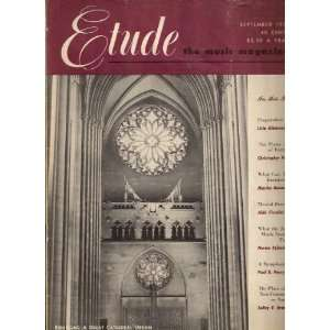 The Etude Music Magazine, September 1953 Books