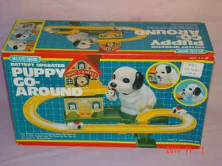 Vintage 1980s Puppy Go Around by Blue Box Toys In Orig Box (3&Up
