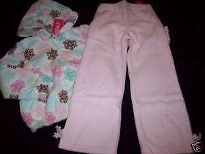 NWT Gymboree WINTER BALLERINA Fleece Jacket Pants 5 5T