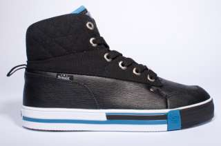 NEW MENS SHMACK CROWBAR BLACK ROYAL BLUE HIGH TOP SNEAKERS SHOES SIZE