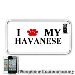 Havanese Paw Love Dog Apple iPhone 4 4S Case Cover White