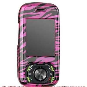 Plum Pink Zebra Snap on Hard Skin Cover Case for Pantech