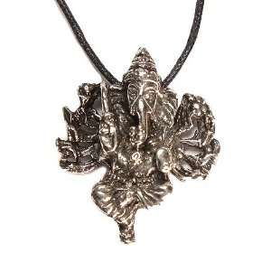 the Hindu Deity Pewter Pendant on Cord Necklace, The Veda Collection