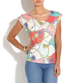 null (Multi Col) Pastel Chain Print T Shirt  251739599  New Look