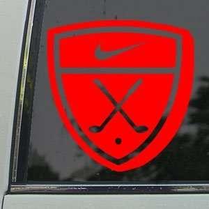 NIKE GOLF EMBLEM Red Decal Car Truck Window Red Sticker