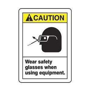 Sign,14x10 In,wear Safety Glasses   ACCUFORM SIGNS