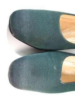 NINA Emerald Green Satin Pumps Heels Shoes Sz 8.5