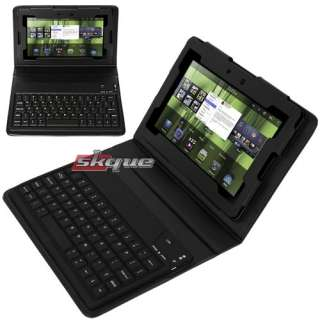 New Bluetooth Keyboard Leather Case Cover for Blackberry Playbook 7