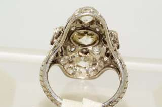 24938 2.81CT ANTIQUE ART DECO OLD MINER CUT DIAMOND RING PLATINUM VS