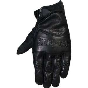 Power Trip Smack Mens Leather Road Race Motorcycle Gloves