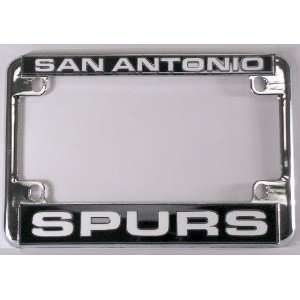 San Antonio Spurs NBA Chrome Motorcycle RV License Plate