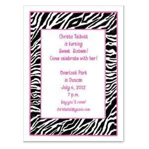 Zebra Print Invitation Toys & Games