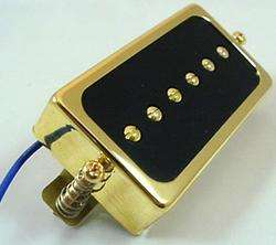 GOLD HUMBUCKER SIZED SINGLE COIL GUITAR PICKUP