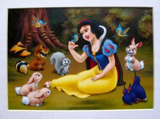 Disney SNOW WHITE Matted Art Lithograph
