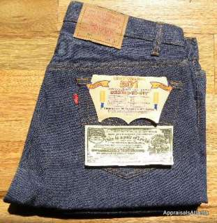 LEVIS 501XX SHRINK TO FIT BUTTON FLY NWT JEANS RIGID