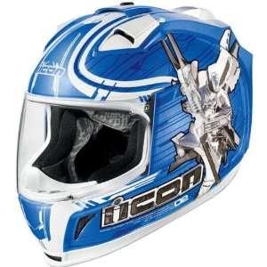 Icon Sha_Do Mens Domain 2 Street Racing Motorcycle Helmet   Blue / 2X