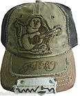NWT TRUE RELIGION BIG BUDDHA CAP OSFA HAT STYLE# TR1411 COLOR:ARMY