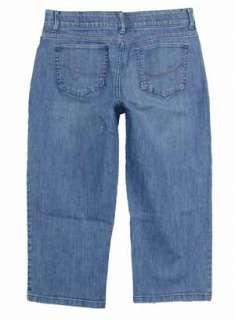 Lee sz 10 Womens Blue Jeans Denim Capri Pants Stretch GG70